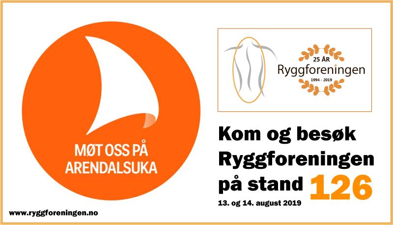 Ryggforeningen i Norge på Arendalsuka 2019