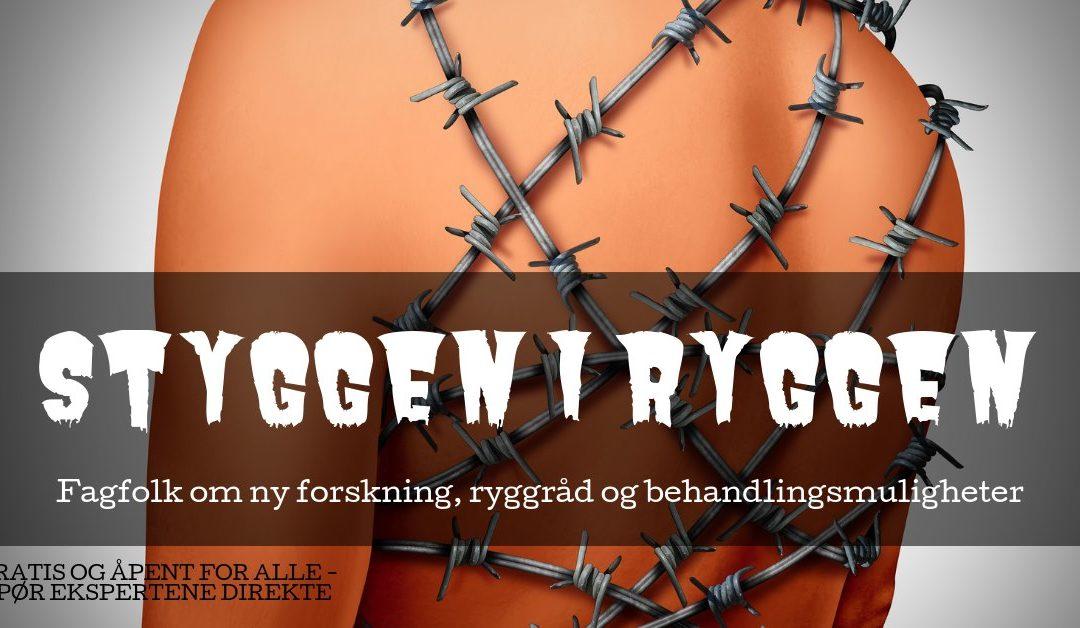 Det medisinske fakultet i Bergen og Ryggforeningen inviterer til «Styggen i ryggen – Debatt om ryggproblemer» 19. sept. 2019
