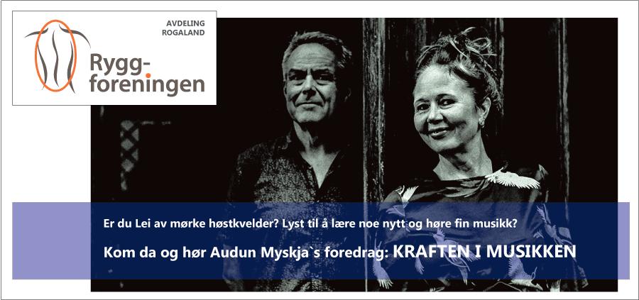 Ryggforeningens avdeling Rogaland inviterer til musikk og foredrag 31. okt. 2019