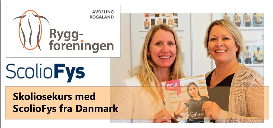 Ryggforeningens avd Rogaland inviterer til Skoliosekurs med ScolioFys fra Danmark 23. nov. 2019